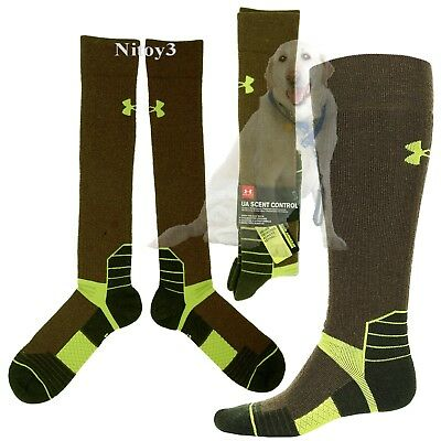 Under Armour Scent Control Boot Socks-Over Calf  Men Large