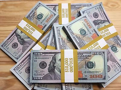 25 Pcs  Usa New Style 100 Dollars Invalid Uncirculated Us Fake Prop Paper Money