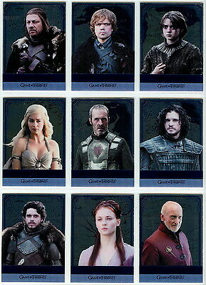 2016 Game Of Thrones Season 5 REFLECTIONS (Mirror) complete set (16 Plexi cards)