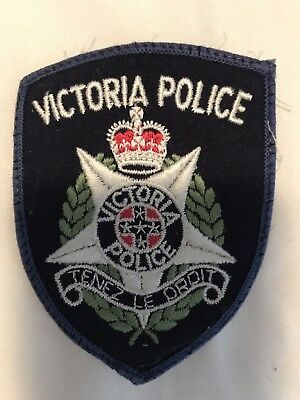 Obsolete Victoria Police Tenez Le Droit Patch. (Not Badge!)