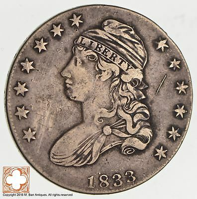 1833 Capped Busted Half Dollar *3554