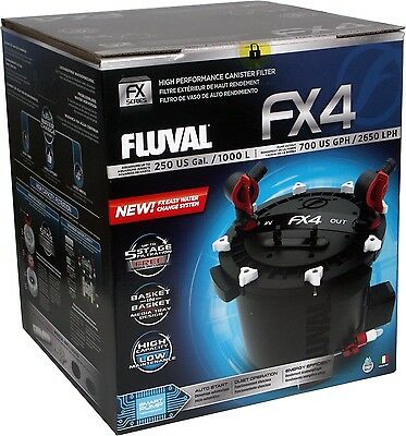 FLUVAL FX4 AQUARIUM CANISTER FILTER  with COMPLETE MEDIA