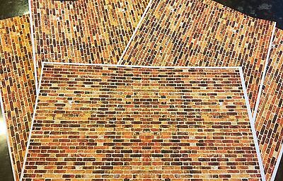 1/18 diorama Old Style Brickwork ( 5 x A4 sheets)