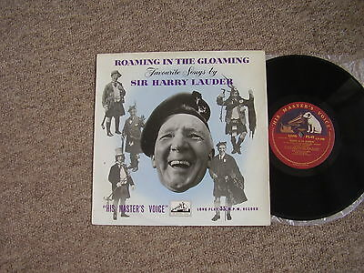 """HARRY LAUDER - ROAMING IN THE GLOAMING - HMV c.1955 10"""" LP EXCELLENT"""