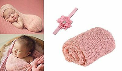 InnoBase Newborn Photography Props Ripple Wrap with Headband for Baby Photo P...