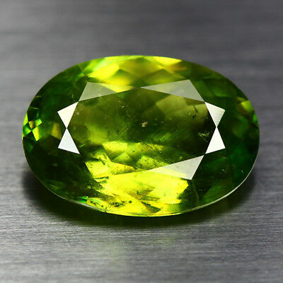 4.35 Cts_Top Electric Fire_100 % Natural Unheated Russian Titanite Green Sphene