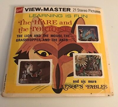 Vintage View Master Reels The Hare And The Tortoise