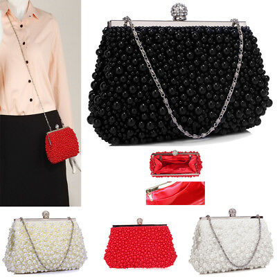 Ladies Clutch Bags Womens Satin Wedding Purse Evening Prom Party Handbags New UK