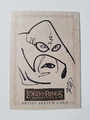 Topps Lord of the Rings Masterpieces Series II Sketch Card