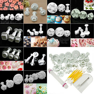 Fondant Cake Cookie Sugarcraft Icing Cutter Plunger Decorating Baking Tool Mould