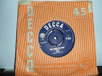 "Them.here Comes The Night.decca.7"" Vinyl Single.45Rpm"