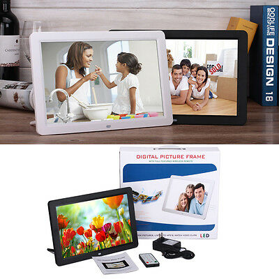 """12"""" inch White LED Digital Photo Picture Frame MP3/4 Movie + Remote Control"""