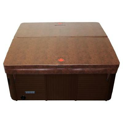 "Canadian Spa Brown 80"" x 80"" Hot Tub Cover- 5/3"" Taper Ratio High Specification"