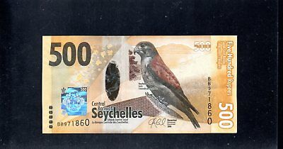 SEYCHELLES  500 Rupees Banknote  2016