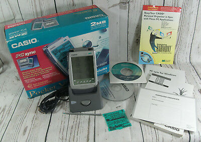 Vintage Casio PV-250X 2mb Pocket Viewer Personal Organiser PDA Working Boxed