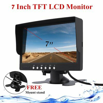 """7"""" Inch LCD Monitor 800x480 TFT Color Screen Two Video Input One Audio Input AU"""