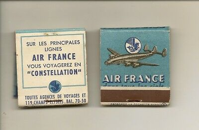 Pochette d'allumettes Lastar de 1951: Cie d'Aviation AIR FRANCE (1)