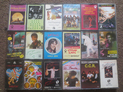 rock/jazz cassettes lot of 18