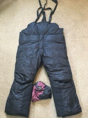 Rab Down Extreme Cold Trousers / Salopettes Large