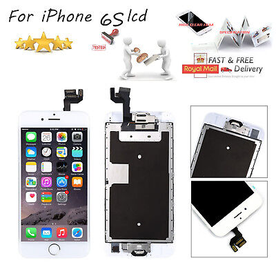 """For iphone 6S 4.7"""" LCD Touch Screen White Replacement +Home Button + Camera"""