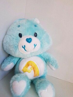 Vintage Care Bear Wish Bear Carebear 1980s Stuffed Plush 13 Inches Tall