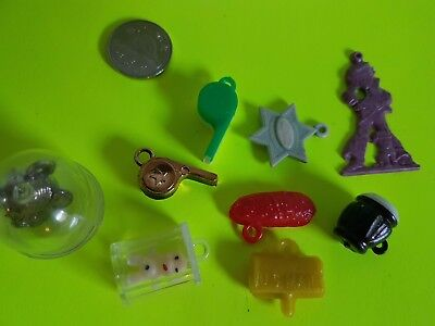 Vintage Lot of Cracker Jack Bubble Gum Machine Small Toys Whistles and Charms