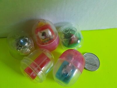 Vintage Lot of Cracker Jack Bubble Gum Machine Small Toys In Bubbles Misc.