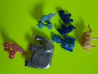 Vintage Lot of Cracker Jack Bubble Gum Machine Small Toys Elephants