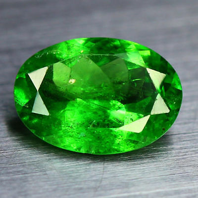 "0.81 Cts_Rare Vivid Green_100 % Natural ""unheated"" Tsavorite Green Garnet_Kenya"