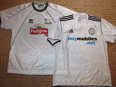 2001/03 2011/12 Derby County Fußball Trikot Football Shirt Adidas Errea L