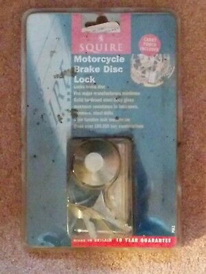 Squire motorcycle brake disc lock with carry pouch
