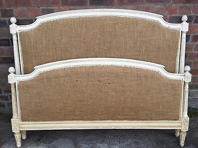 French Double bed ready to be Reupholstered
