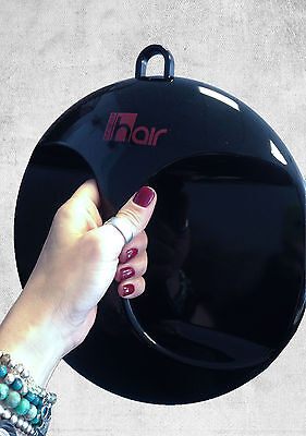 Hair Furniture Magic Black Large,Round, Hangable,High Quality Salon Hand Mirror