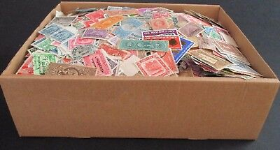 Old Stationery Box Full Of Stamps - All Periods - Est 16/18,000+ Worldwide