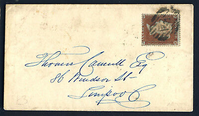 GB QV 1855 1d Red Plate R6 OC SG 17 (Spec C1) On Cover LONDON to LIVERPOOL