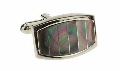Mother of Pearl Mens Cufflinks with Gift Box Stainless Steel Cuff Link