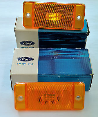 1970-1974 Nos Oem Ford Bronco Econoline Amber Side Marker Lights  Matching Color