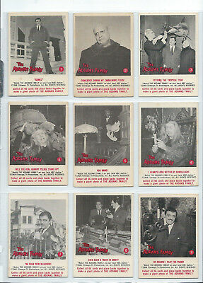 The Addams Family - Complete Card Set (1-66) 1964 Donruss @ Excellent+/Near Mint