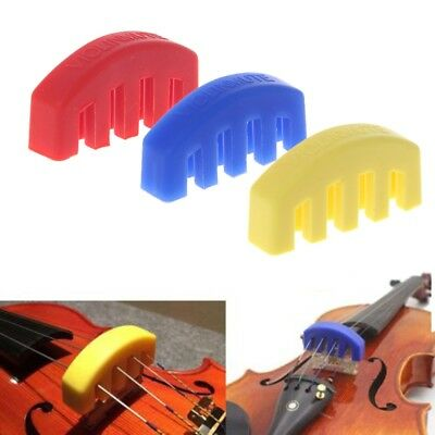 Rubber Practice Mute Silencer Volume Control For Violin Strings Acoustic Durable