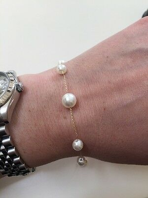 18ct Gold And Fresh Water Pearl Bracelet