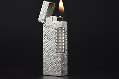 Dunhill Lighter Rollagas Serviced Working Vintage New O-rings Switzerland #553