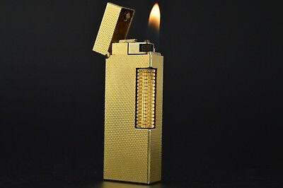 Dunhill Lighter Rollagas Serviced Working Vintage New O-rings Switzerland #554