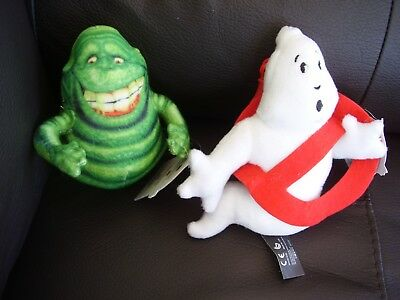 "L@@K (2) GHOSTBUSTER  6"" plush keyrings 1 SLIMER & 1 GHOST New with tags"