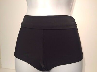Ladies Black NEXT Shorts Leg Bikini Bottoms Size 12 - Briefs Plain Control Fold