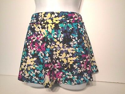 Ladies Multicoloured BHS Swim Skirt Size 14 - Beach Briefs Floral Belt Swimwear