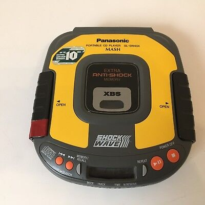 Panasonic SL-SW404 Yellow Portable CD Player Extra Anti-Shock Memory, ShockWave
