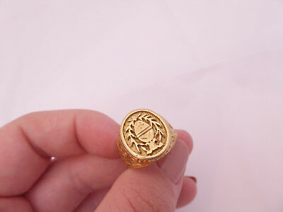 18ct/18k gold heavy seal ring, 750