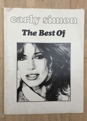 Carly Simon The Best of Sheet Music Book