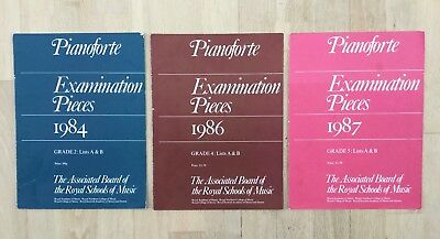 Three 1980s Royal Schools of Music Piano Examinations Books