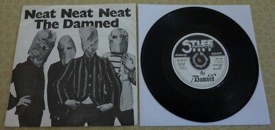 THE DAMNED, NEAT NEAT NEAT, 1977 1st ISSUE STIFF RECORDS 45 IN PICTURE SLEEVE.